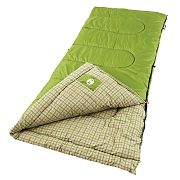 Coleman Green Valley Cool Weather Poly/Flannel Sleeping Bag