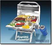 Magma A10801 Trailmate Gas Grill 9in. x 12in.