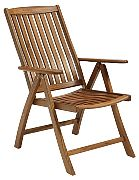 WhiteCap 60071 Teak Reclining Arm Chair