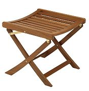 WhiteCap 60072 Teak Folding Foot Stool for Deck Chair