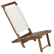 WhiteCap 60074 Teak Everyday Chair with White Batyline Fabric