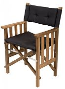 WhiteCap 61051 Teak Director´s Chair II with Black Seat Cushion