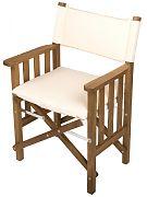 WhiteCap 61053 Teak Director´s Chair II with Creme Seat Cushion