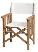 WhiteCap 61054 Teak Director´s Chair II with 727 Sailbags Sail Cloth Seat Cover